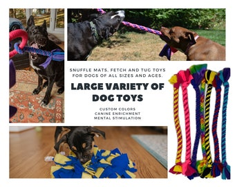 Dog Toys - Multiple Options - Custom - Knotted Fleece Tug Toys For Dogs By Boss Dog Toys