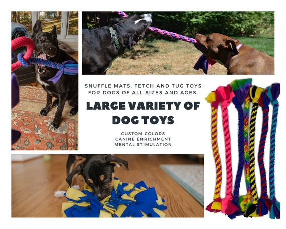 Makes a Great Tug Toy for Small Dogs By Boss Dog Toys Dog Toys with a looped handle