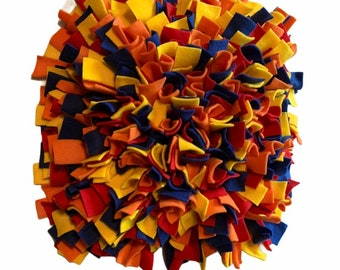 WASHABLE Dense 17x19 inch Custom Snuffle Mat/ Treat Puzzle/ Interactive Rooting Mat/ Enrichment Toy/Reward Mat for Dogs/ Puppy