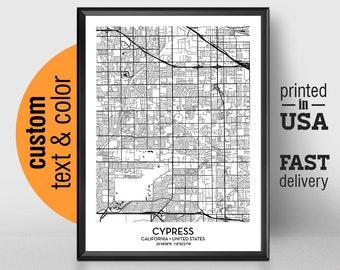 Cypress Map Art Etsy
