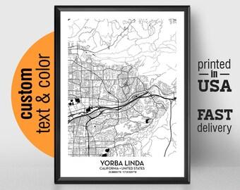 Where Is Yorba Linda California Map.Yorba Linda Ca Etsy