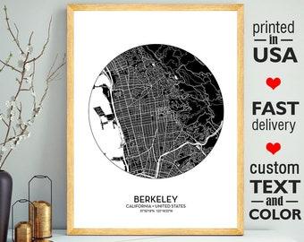 Berkeley map | Etsy