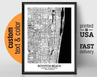 Boynton Beach Florida Map.Boynton Beach Map Etsy