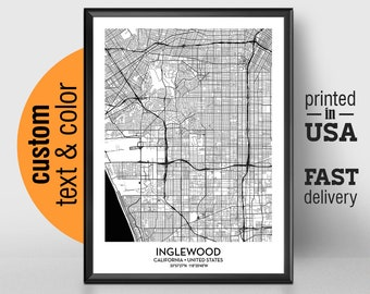 Inglewood map print | Etsy