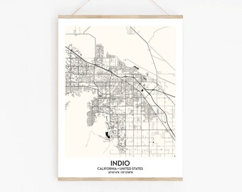 Indio ca poster map | Etsy