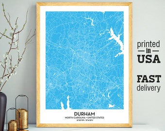 Durham city map | Etsy