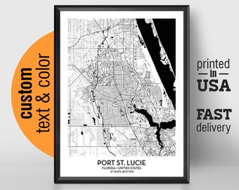 Where Is Port St Lucie Florida On The Map.Port St Lucie Fl Etsy