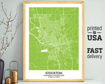 Stockton map | Etsy