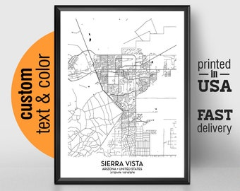 Sierra Vista Map Etsy