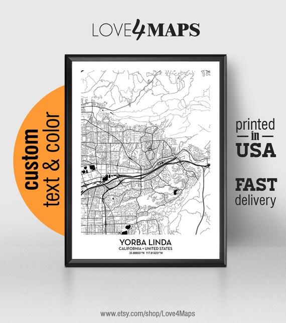 Yorba Linda California Map, Yorba Linda City Print, Yorba Linda Poster, on placentia map, san lorenzo map, linda cal map, covington map, gresham map, woodland map, linda ca map, ione map, kalamazoo map, sherman oaks map, whittier blvd map, oak view map, south los angeles map, elberton map, santa ysabel map, los alamitos map, san dimas map, claremont map, downey map, madison heights map,