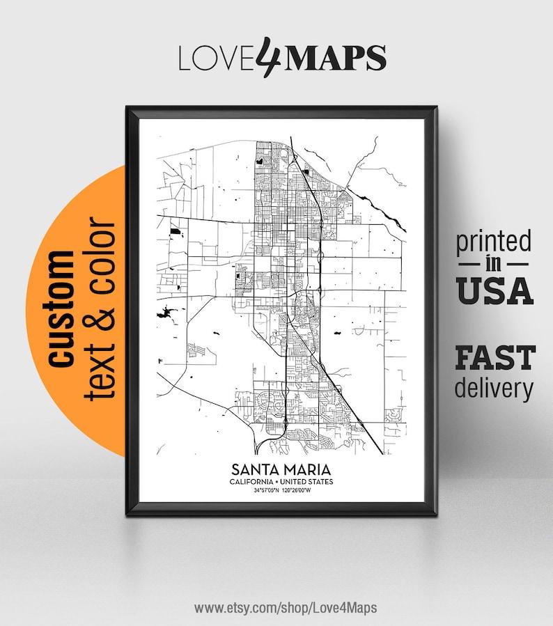 Santa Maria California Map, Santa Maria City Print, Santa Maria Poster, on arroyo grande california map, mckittrick california map, alamitos california map, san bernardo california map, sonoma coast california map, camarillo california map, stevinson california map, loyalton california map, refugio beach california map, ventura california map, morro bay california map, central coast california map, valencia california map, san nicolas island california map, cardiff by the sea california map, mission santa barbara california map, garey california map, buellton ca map, westlake village california map, stockton california map,