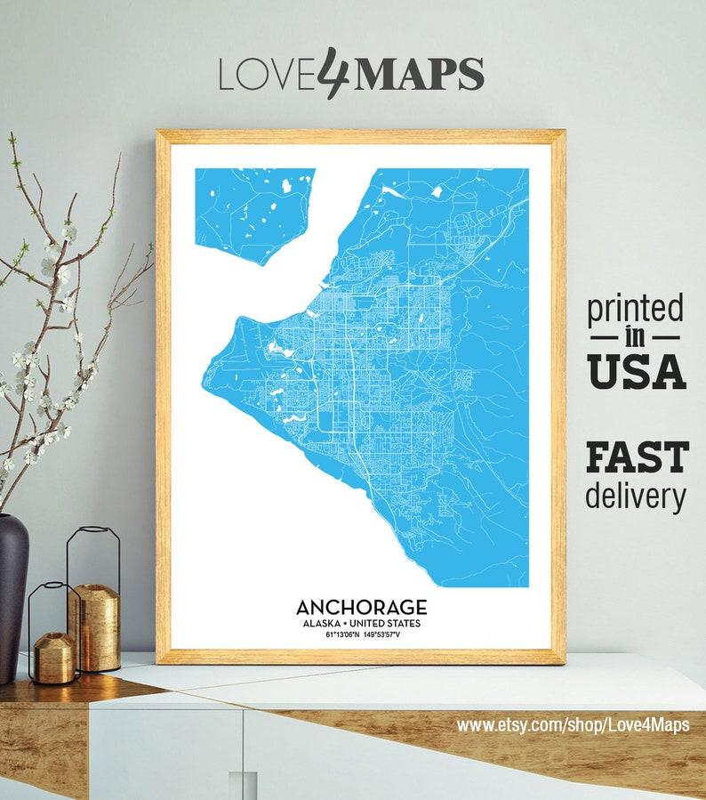Anchorage Alaska Map, Custom color map, City Print, Anchorage Poster, on map of skagway alaska, map of icy strait point alaska, map of alaska with cities and towns, map of southeast alaska, map of homer alaska, juneau alaska, palmer alaska, map of southern alaska, map of girdwood alaska, map of whittier alaska, fairbanks alaska, sitka alaska, talkeetna alaska, capital of alaska, driving map of alaska, geographical map of alaska, nome alaska, detailed map alaska, us map alaska, large map alaska,