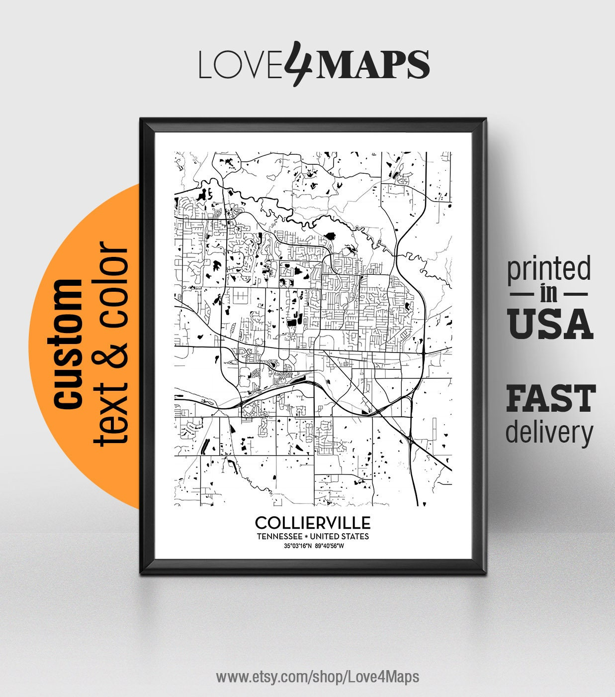 Collierville Tennessee Map, Collierville City Print, Collierville Poster, on i-40 exits tennessee, i-40 in tennessee, i-40 road conditions tennessee, map of e tnn, map of northeast tn, map of knoxville tn and surrounding areas, interstate 40 tennessee, map hwy east tennessee,