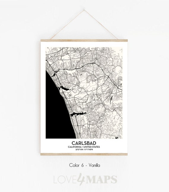 Carlsbad CA City Map poster print wall art decor | Carlsbad California on solano beach ca map, san luis obispo ca map, san elijo ca map, la jolla ca map, el camino college ca map, solana beach ca map, san marcos ca map, livermore ca map, fort worth ca map, las vegas ca map, santa monica ca map, san clemente ca map, mountain view ca map, campbell ca map, mountain home ca map, del mar ca map, tijuana ca map, chicago ca map, palo alto ca map, camarillo ca map,
