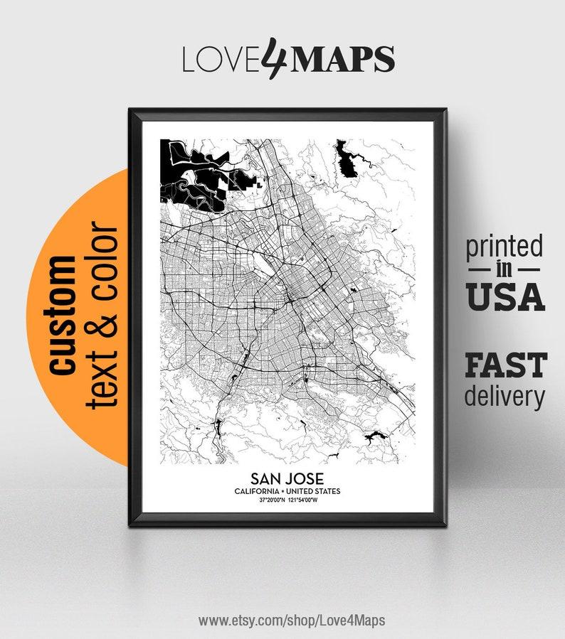San Jose California Map, San Jose City Print, San Jose Poster, Personalized San Jose California Map on santa barbara, seattle map, santa cruz california map, orange county california map, silicon valley, newport beach california map, stanford california map, mountain view california map, miami florida map, hayward california map, winchester mystery house, santa clara california map, moraga california map, big sur california map, san francisco, san diego, long beach, palo alto california map, santa clara, san antonio, fresno california map, monterey california map, oakland california map, san francisco bay area, redlands california map, cypress california map, northern california map, malibu california map, anaheim california map, los angeles, el paso, palo alto, santa cruz,