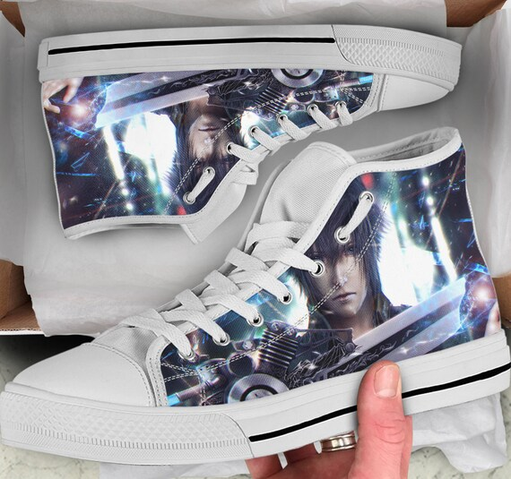 Women's him Shoes Colorful XV Final Fantasy Looks Tops sneakers Sneakers Tops Men's high like for Shoes High Converse her Shoes Gift O77HgrWn
