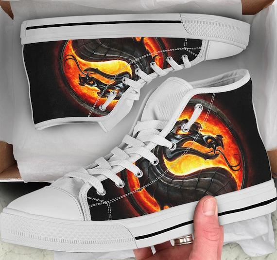 Dragon Converse Mortal Looks Shoes Shoes high Men's Mortal Colorful Kombat Kombat Women's like sneakers Shoes Sneakers High Tops Tops w1aEqEXUBn