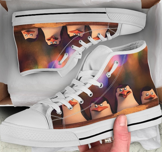 Shoes Madagascar Women's high sneakers Looks Colorful Tops High Shoes Sneakers Converse Penguins Penguins like Shoes Penguins Men's Tops CUrCg6q1O