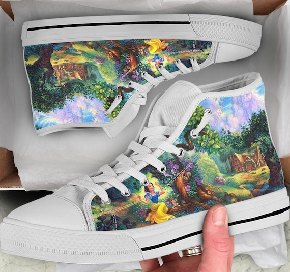Snow White Shoes Sneakers Tops like White Snow Men's Looks High Colorful Snow Shoes Shoes Women's high White Converse Tops sneakers qBaxEt