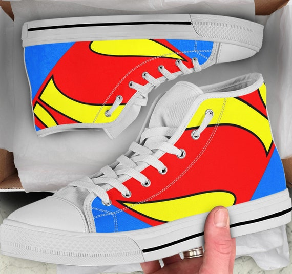 Looks Sneakers Superman Shoes high like Men's High Top Tops Shoes Superman Shoes sneakers Converse Colorful Superman Women's gTwE66
