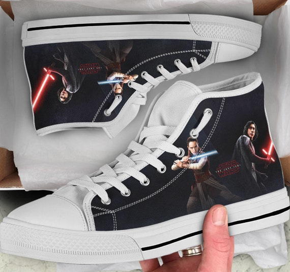 Tops Converse Sneakers Women's him high Looks Shoes like for High The Jedi Star Last Gift Shoes Colorful sneakers Shoes Tops Wars Men's qw1600U