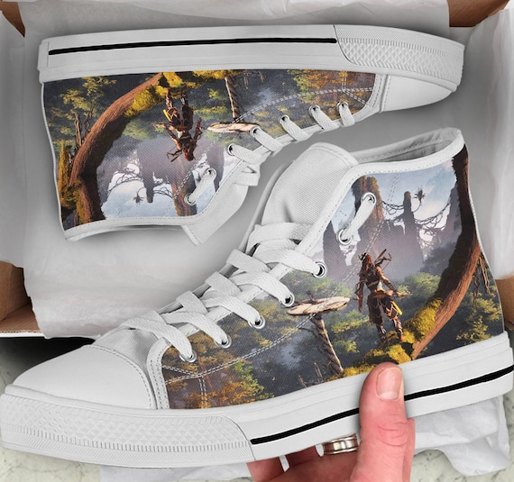 Tops Shoes sneakers Dawn High Men's like her Horizon high Zero Dawn Women's Colorful Tops for Looks Shoes Gift Converse Sneakers him Shoes 868xgYqt