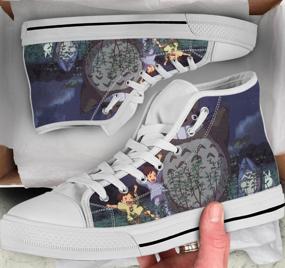 Totoro High Totoro Shoes Men's Shoes Converse Looks high Tops Colorful sneakers Tops Shoes like Sneakers Women's Totoro wgqCRt