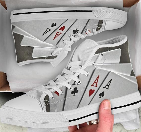 Poker de baskets color Ace chaussures Cartes baskets hauts sommets 1txayqSAw