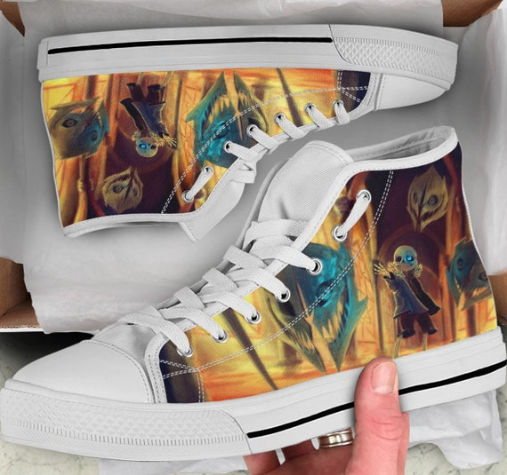 Colorful like for Undertale Shoes Gift Men's Tops Women's sneakers high Converse Undertale High Looks him Tops Shoes Sneakers Shoes wHqTXWx6F