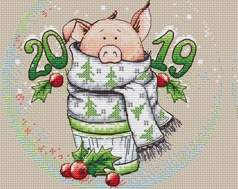 Pig Cross Stitch Etsy