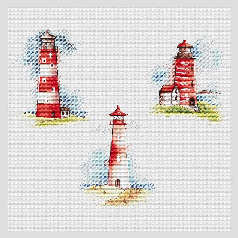 Serenity Lighthouse Counted Cross Stitch Kit-7