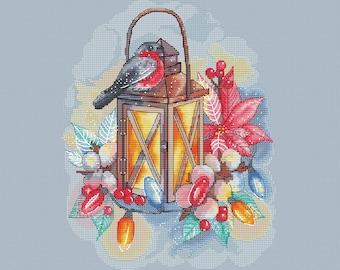 Magic Lantern cross stitch pattern Christmas lantern instant download pdf pattern home decor christmas cross stitch bullfinch pattern pdf
