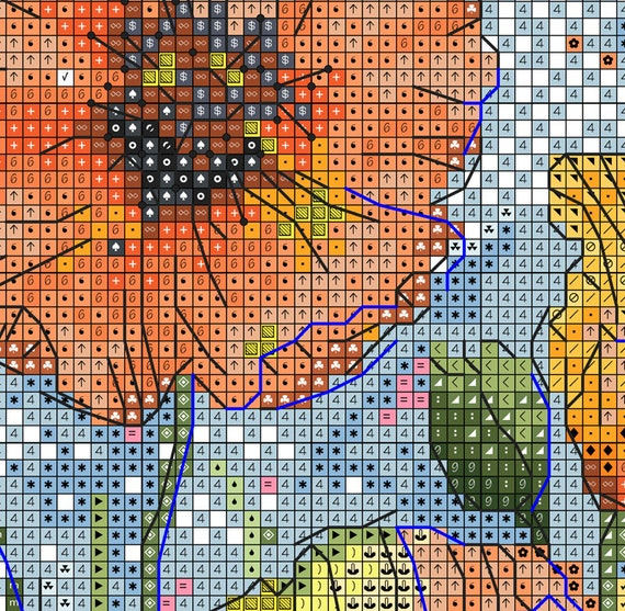 Field Of Poppies Cross Stitch Pattern Mountain Flowers Cross Stitch Poppies Cross Stitch Flower Cross Stitch Room Decor Poppy Cross Stitch