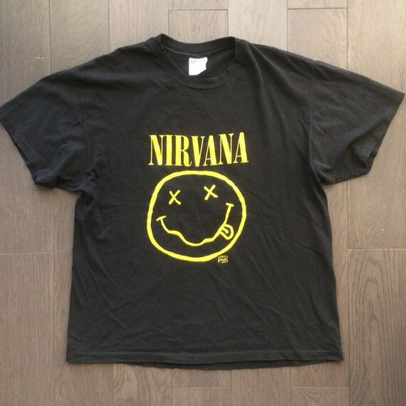 Vintage Nirvana Smiley Face shirt Rare Backstage P