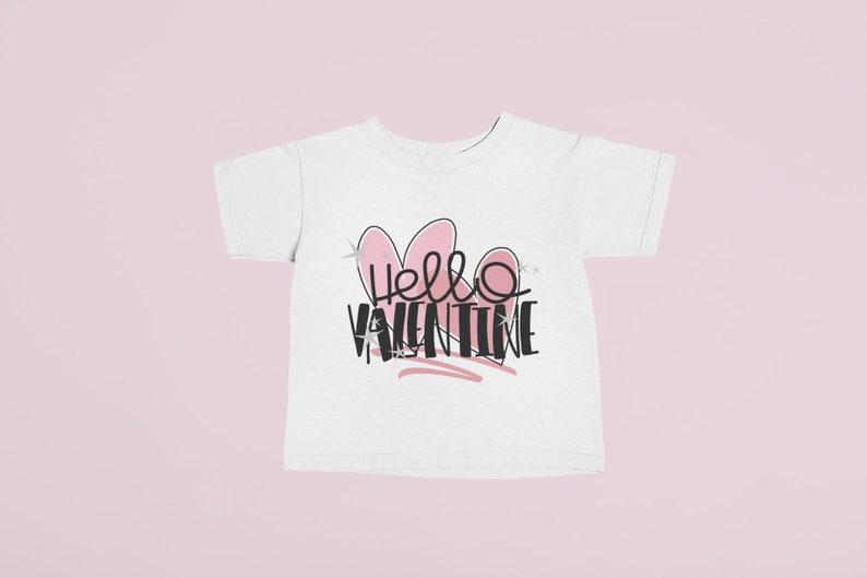 779bc945 Hello Valentine Shirt Girls Valentine Shirt Toddler Girl | Etsy