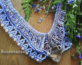 blue scorpio necklace