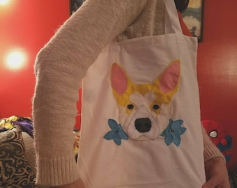 Custom felt pet handbag
