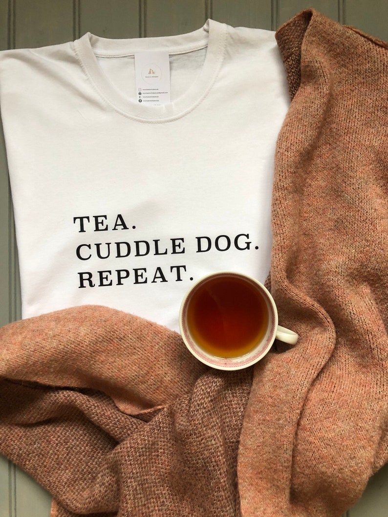 Tea. Cuddle Dog. Repeat Long Sleeve T-Shirt image 0