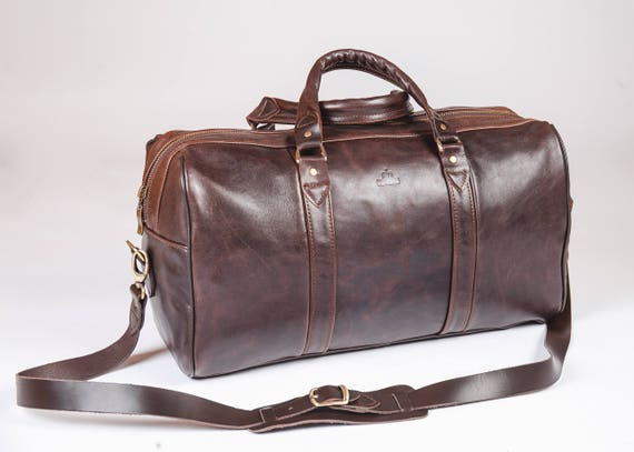 Leather travel bag for men Leather duffel bag women Leather   Etsy 6e53a63c08