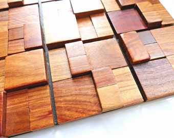 Wood Mosaic Art Etsy