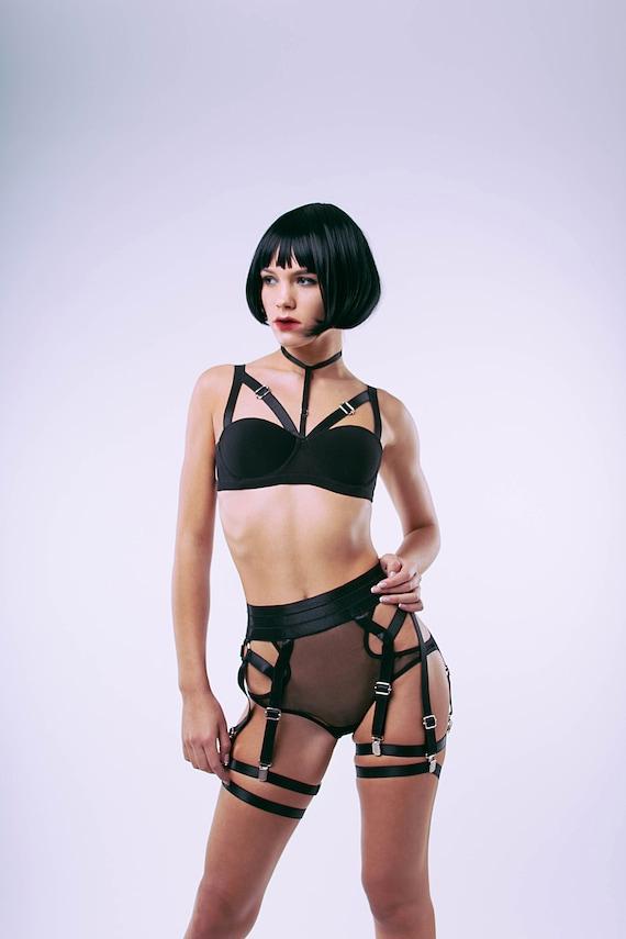 Harness Valery body harness black harness strappy  20e1c3b963a