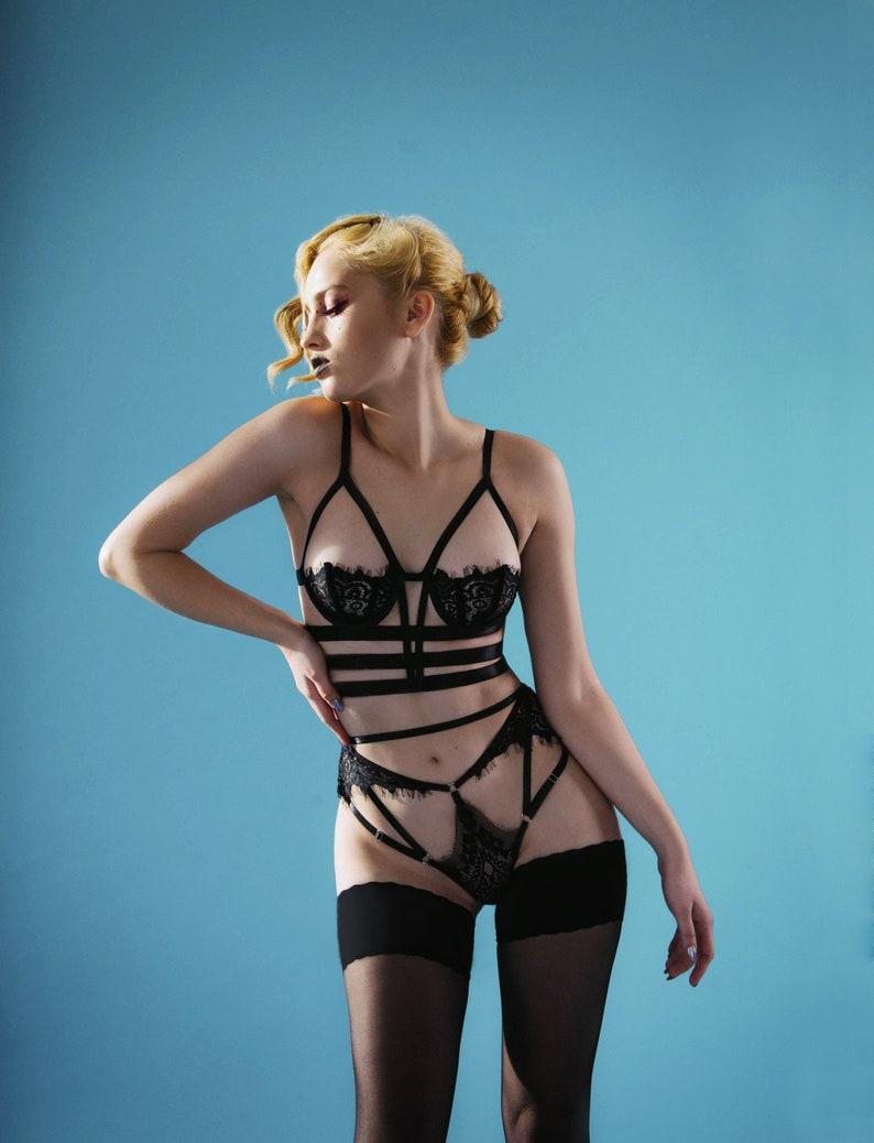 c7b819801a Bra Laura lace bra bralette harness lingerie erotic sexy