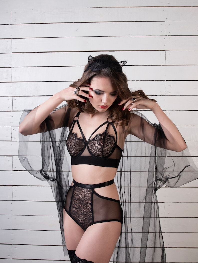 e8e2949d0c Bra Lily-Rose lace bra bralette harness lingerie erotic