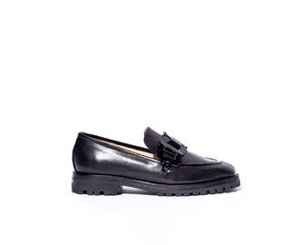 Trini Loafer in Black + Patent