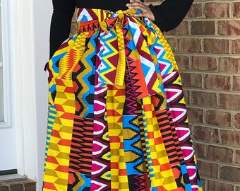 Maxi Skirt, Midi Skirt, High Low Skirt, Ankara Skirt, African Print Skirt, Free Style Skirt, Adiahbyknicole