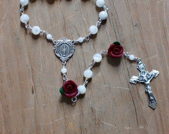 Mother of Pearl Sterling Silver Chaplet