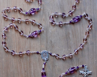 Ametrine and Sterling Silver Rosary