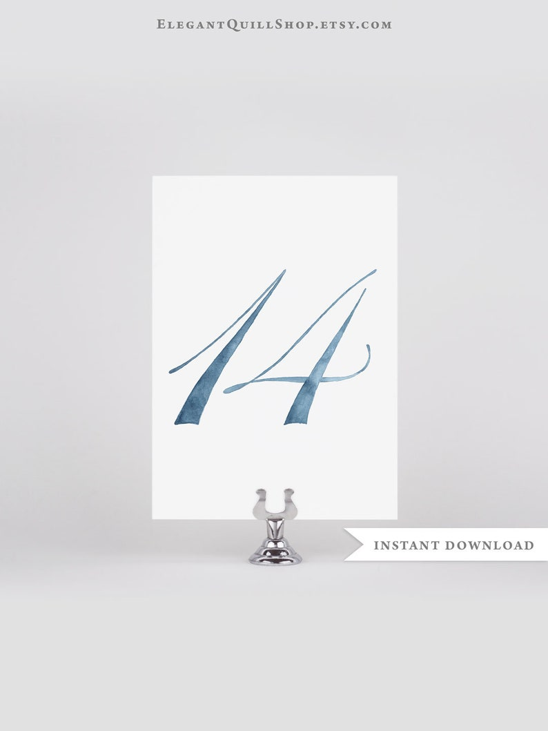 Terrific Dusty Blue Wedding Blue Table Numbers Watercolor Printable Table Numbers Digital Download Beach Wedding Decor Dusty Blue Wedding Decor Download Free Architecture Designs Embacsunscenecom