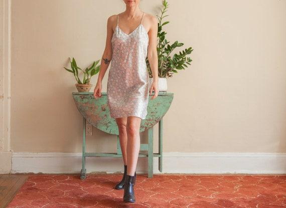 Floral Satin Slip Dress, Pastel Flower Pattern Sl… - image 2