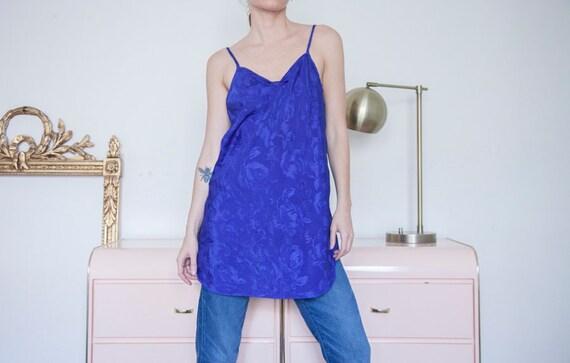 Vintage Puple Sweetheart Neckline Slip Dress